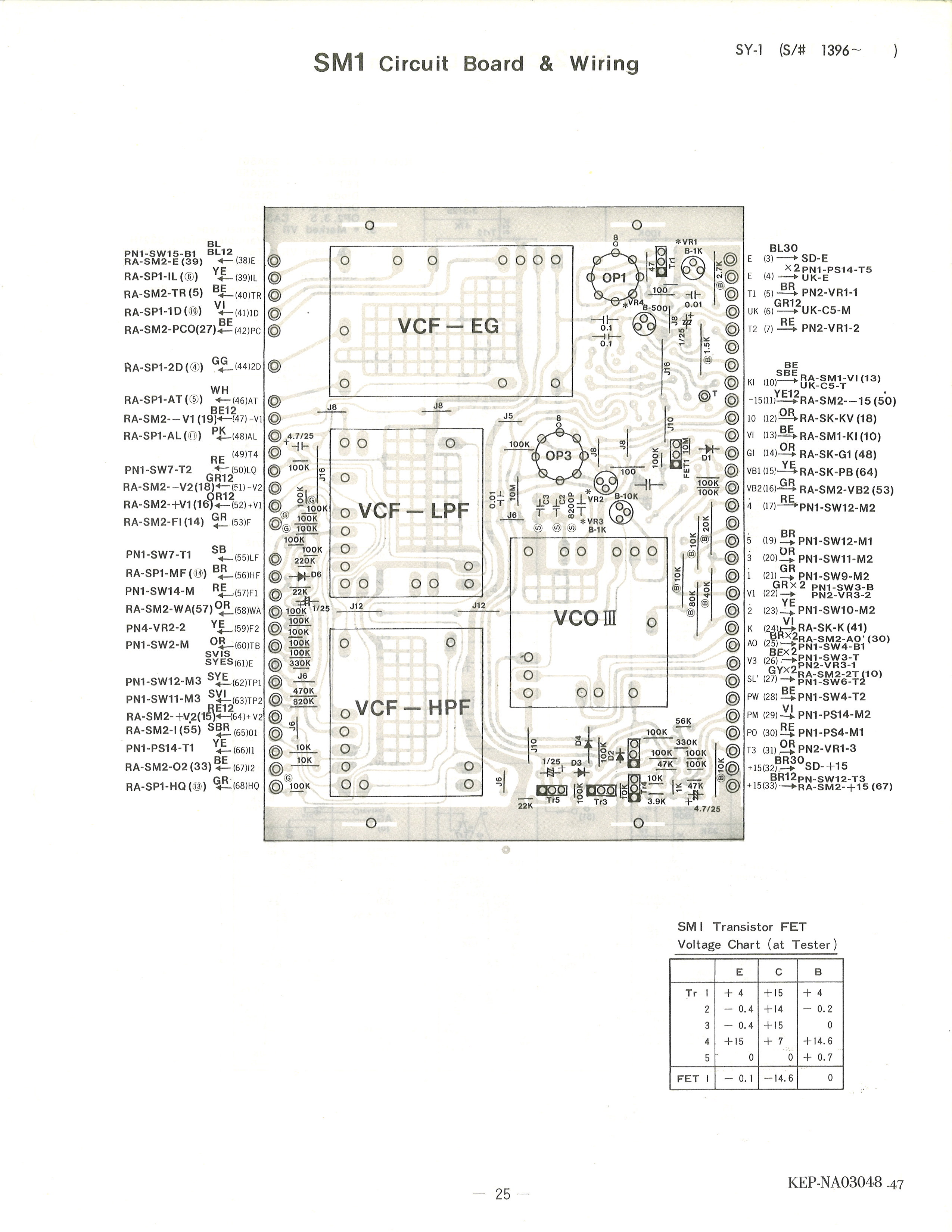Yamaha Sy 1 Service Manual Circuit Diagram In Addition Mobile Phone On Pcb 26 Sm2 Sn 1396